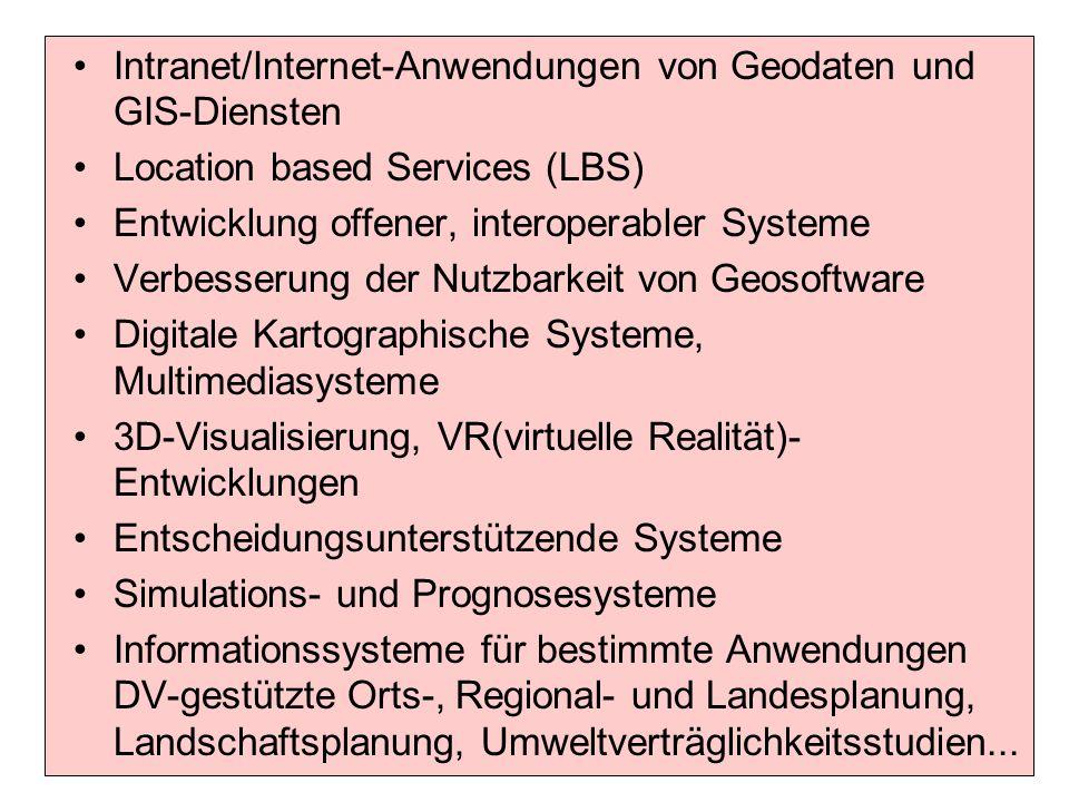Intranet/Internet-Anwendungen von Geodaten und GIS-Diensten