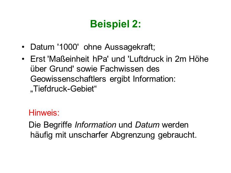 Beispiel 2: Datum 1000 ohne Aussagekraft;