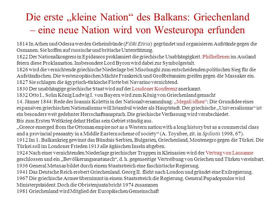 """Die erste """"kleine Nation des Balkans: Griechenland – eine neue Nation wird von Westeuropa erfunden"""