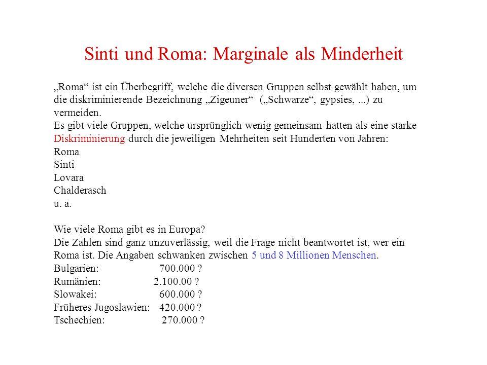 Sinti und Roma: Marginale als Minderheit