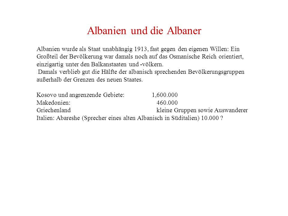 Albanien und die Albaner