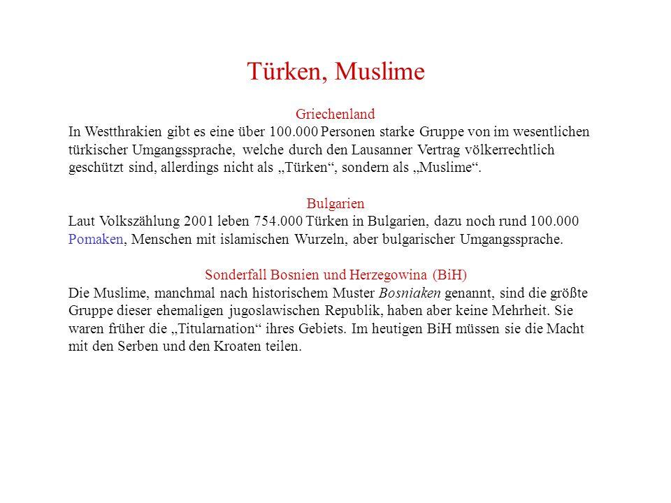 Sonderfall Bosnien und Herzegowina (BiH)