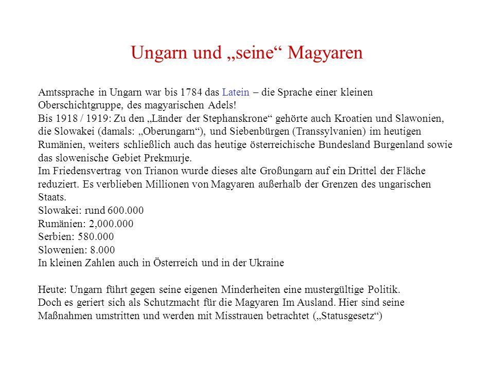 """Ungarn und """"seine Magyaren"""