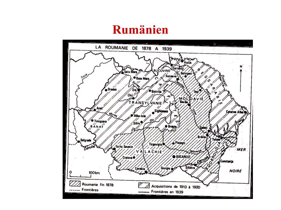 Rumänien Geschätzte 2 Mill. Magyaren (s. u. die Volkszählungsergebnisse) Geschätzte 2,1 Mill. Roma (offizielle Zahl wesentlich niedriger)