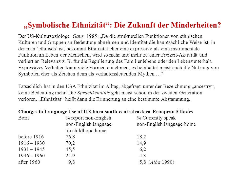 """""""Symbolische Ethnizität : Die Zukunft der Minderheiten"""