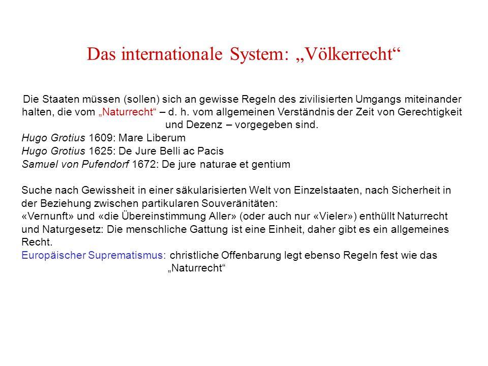 """Das internationale System: """"Völkerrecht"""