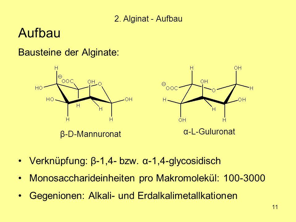 Aufbau Bausteine der Alginate: