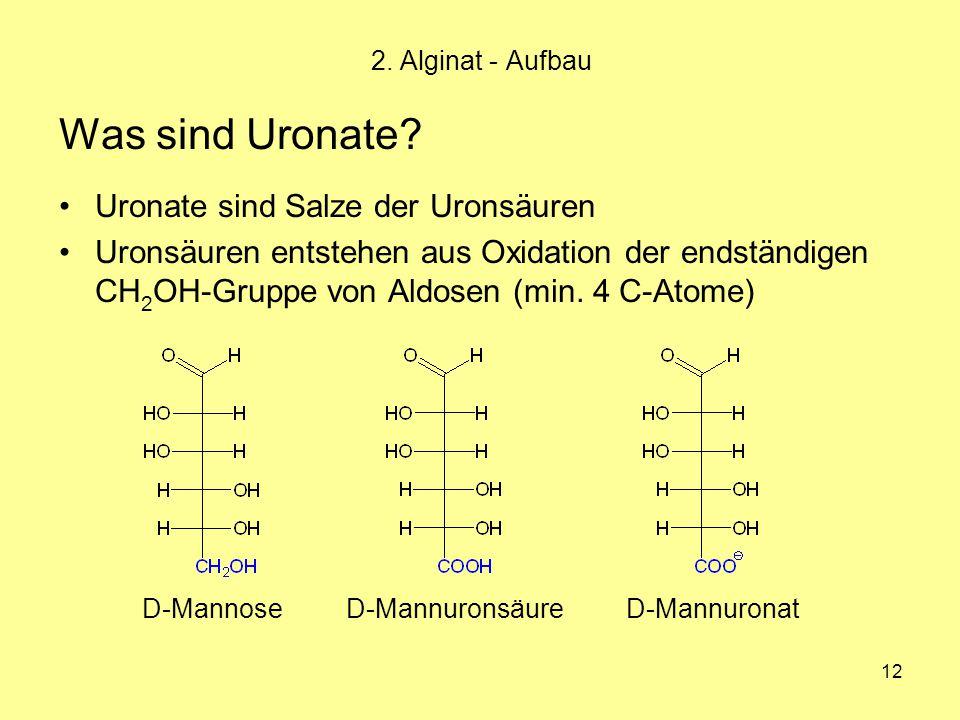 Was sind Uronate Uronate sind Salze der Uronsäuren