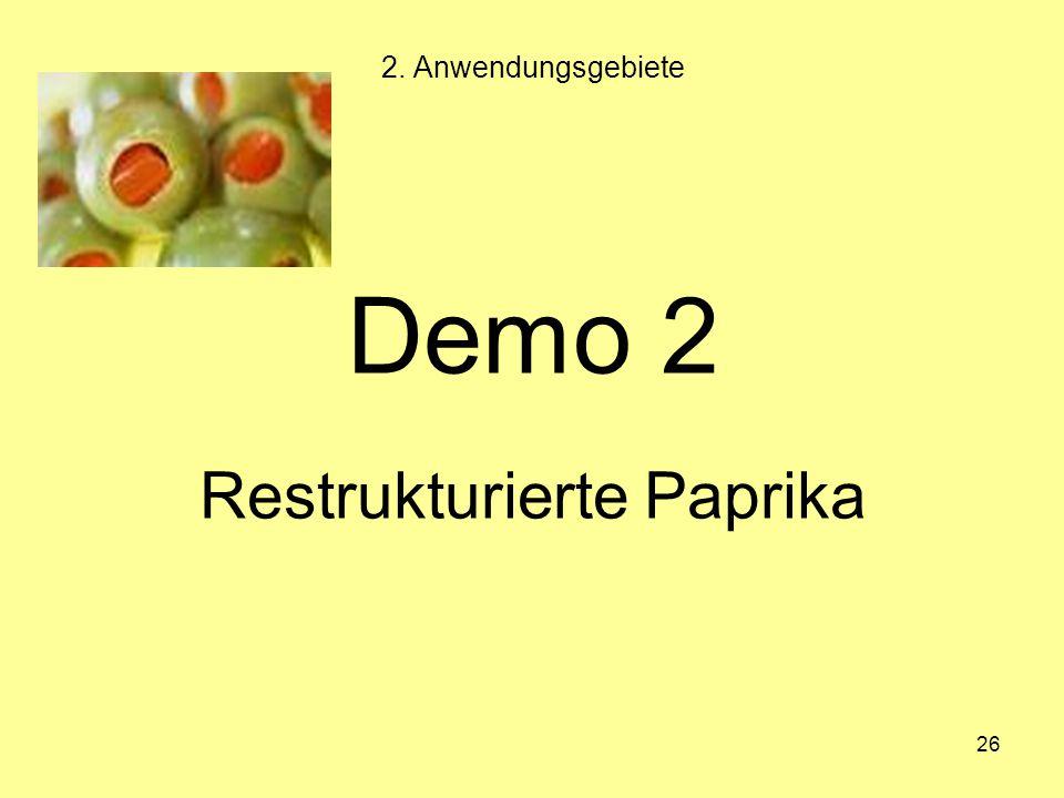 Restrukturierte Paprika