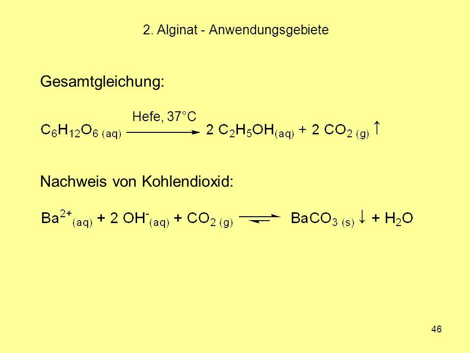 2. Alginat - Anwendungsgebiete