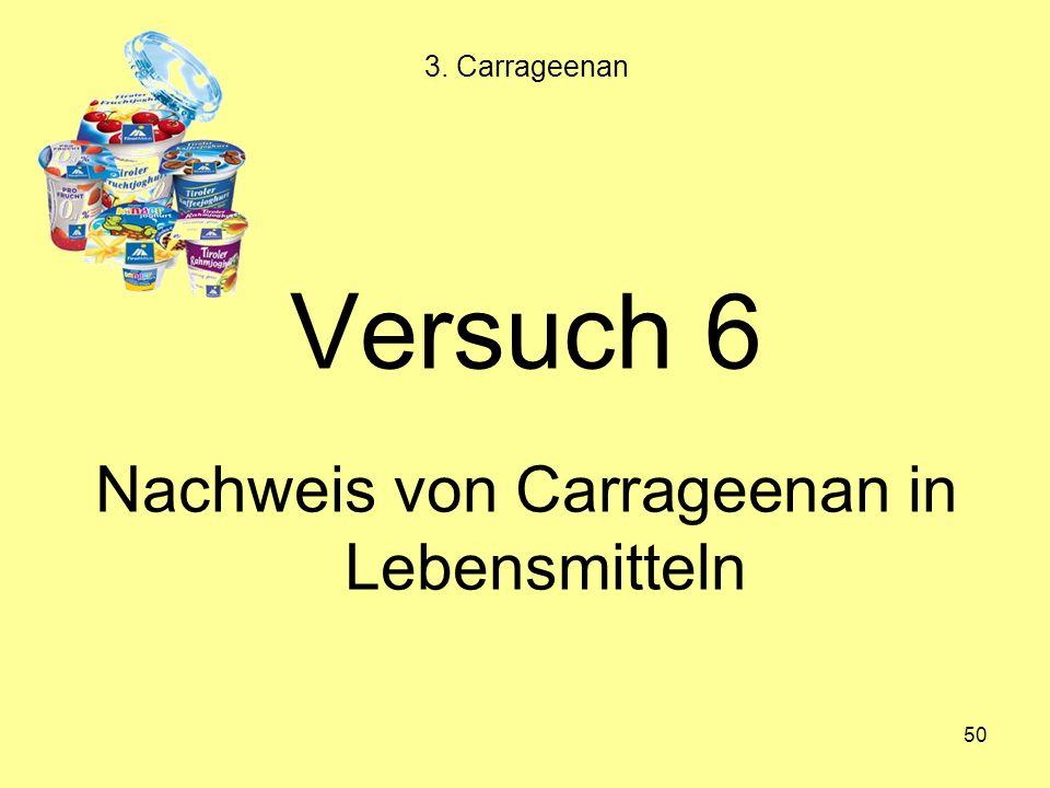 Nachweis von Carrageenan in Lebensmitteln