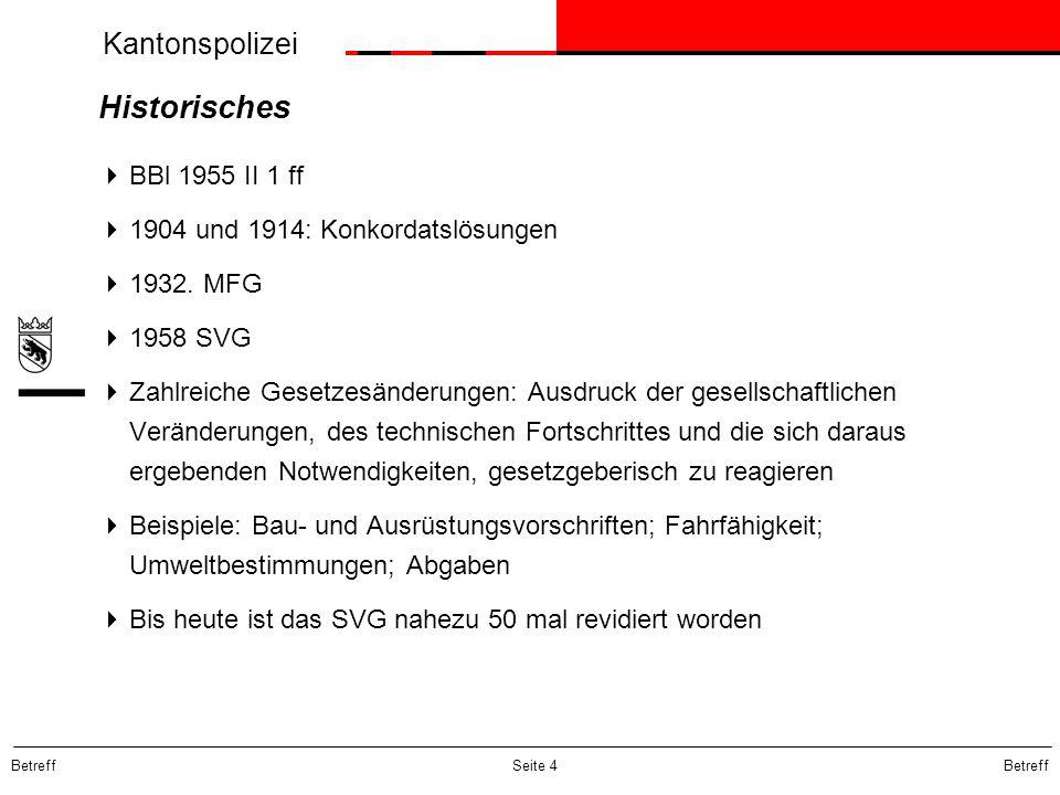 Historisches BBl 1955 II 1 ff 1904 und 1914: Konkordatslösungen