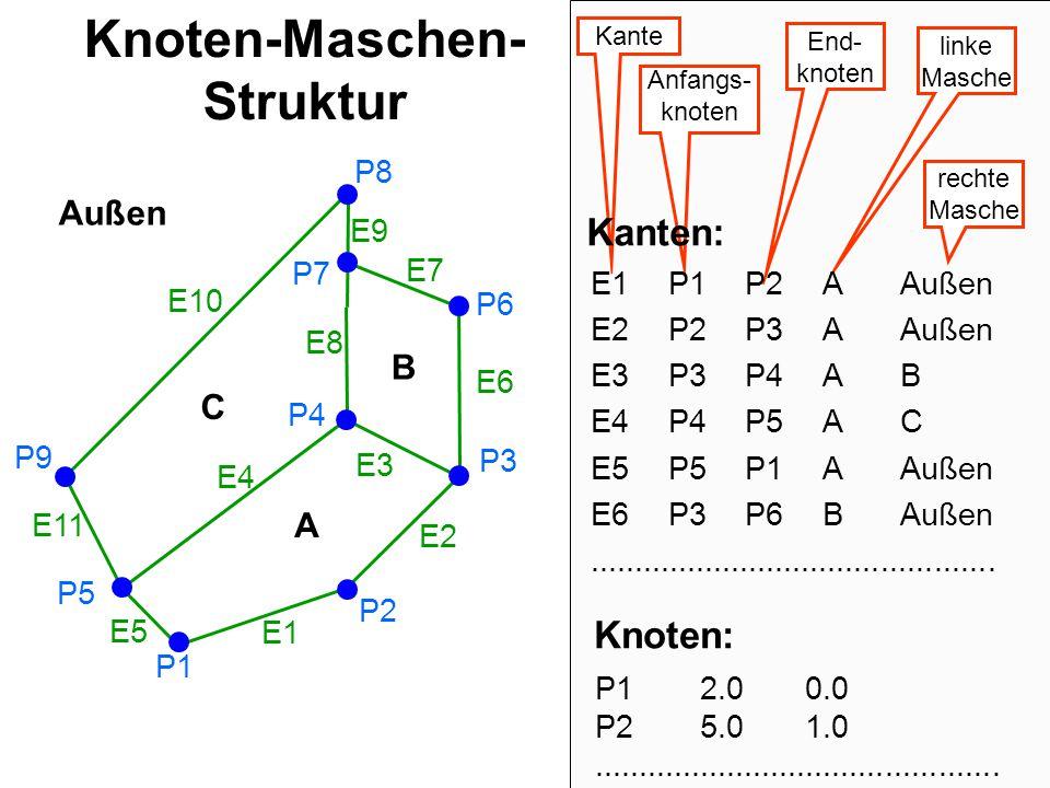 Knoten-Maschen-Struktur
