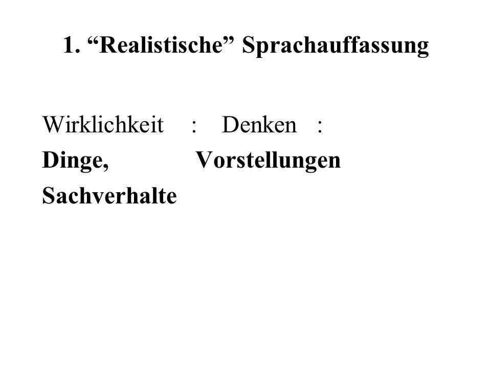 1. Realistische Sprachauffassung