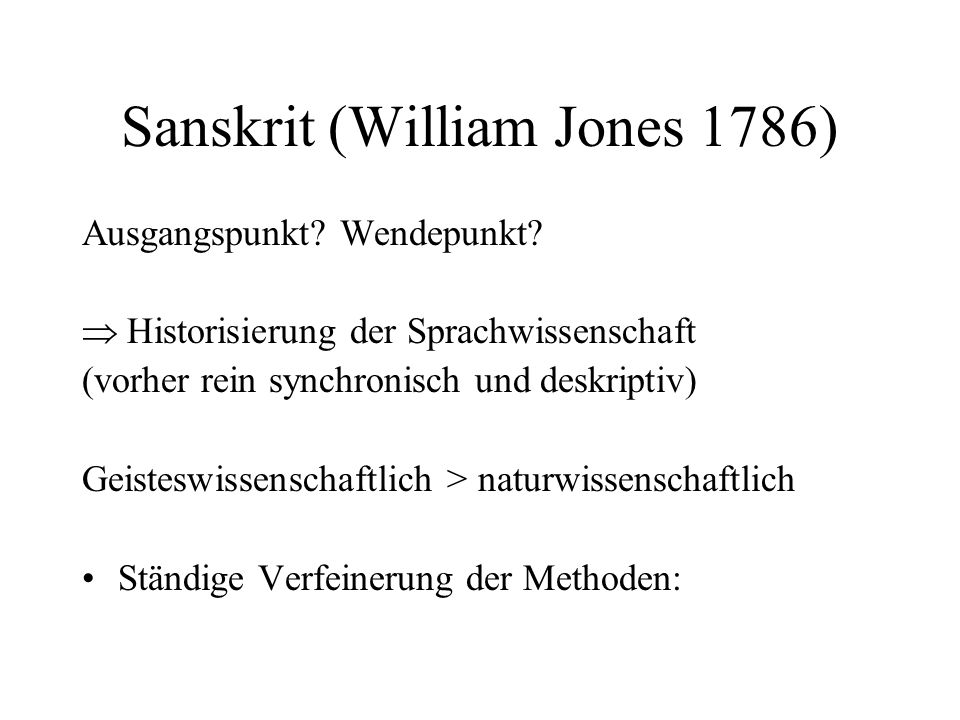 Sanskrit (William Jones 1786)