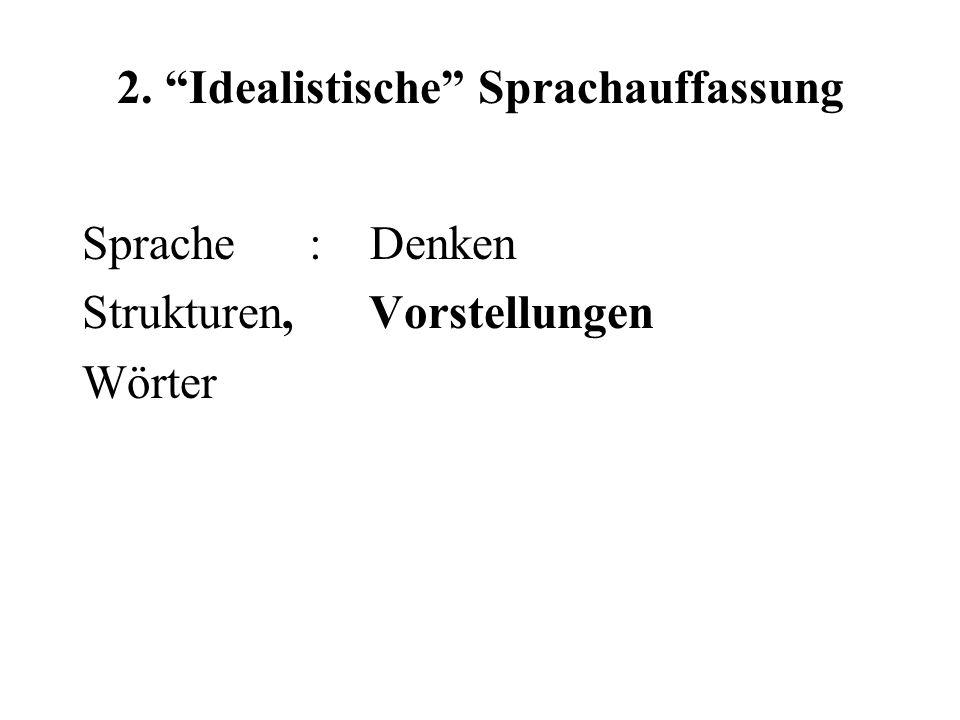 2. Idealistische Sprachauffassung