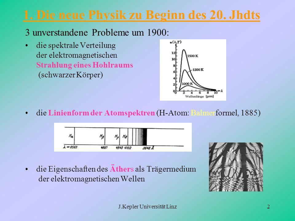 1. Die neue Physik zu Beginn des 20. Jhdts