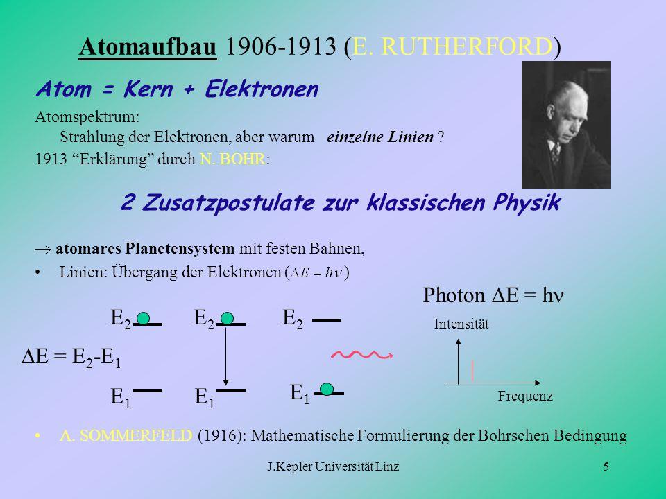 Atomaufbau 1906-1913 (E. RUTHERFORD)
