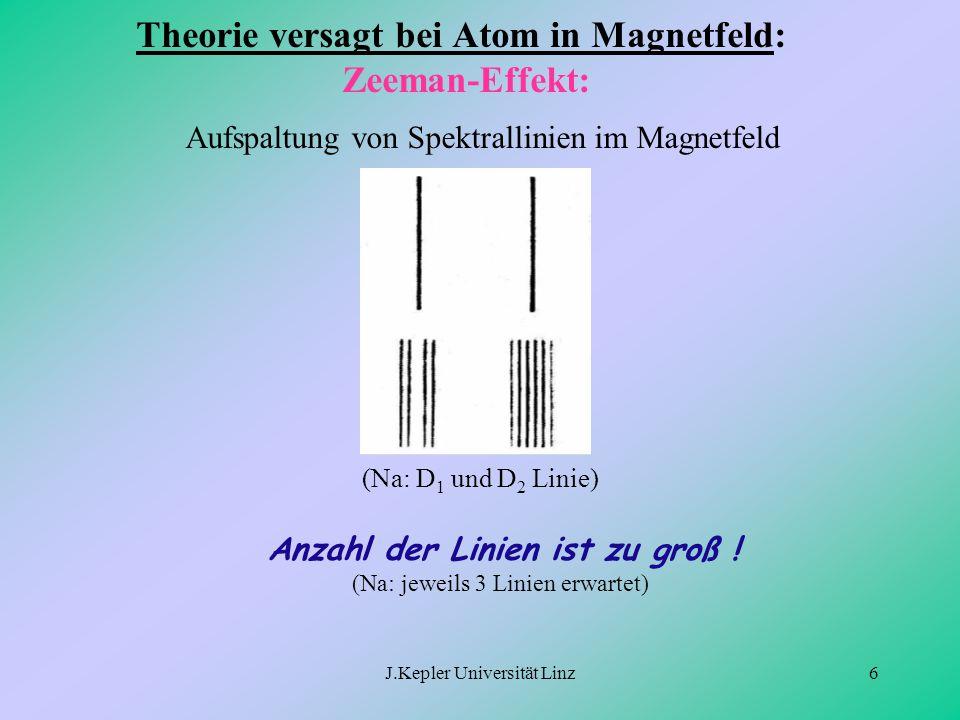 Theorie versagt bei Atom in Magnetfeld: Zeeman-Effekt: