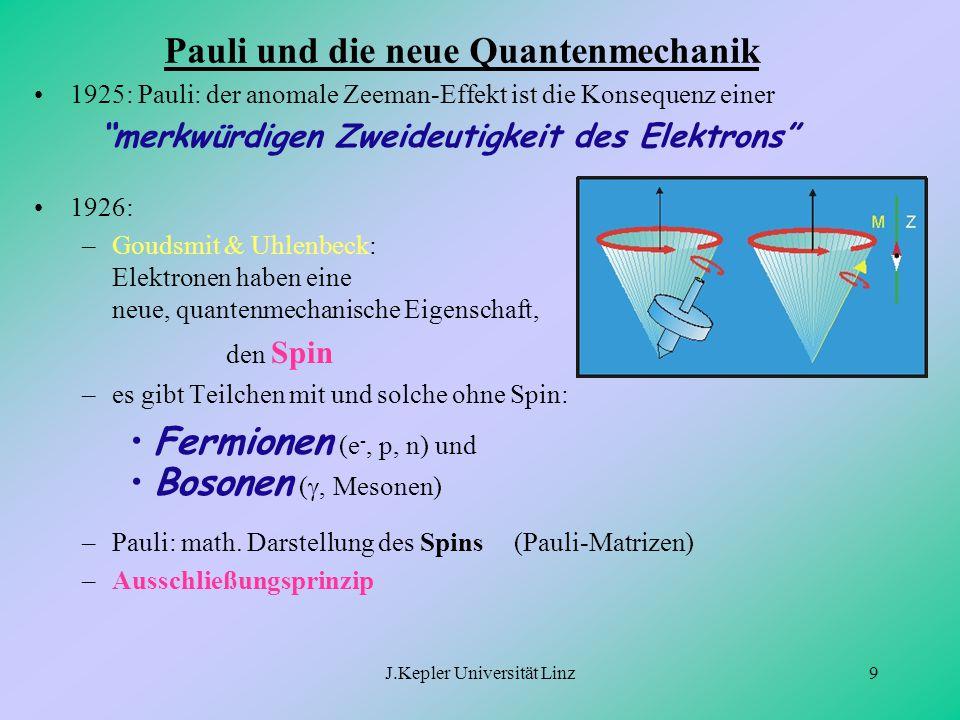 Pauli und die neue Quantenmechanik