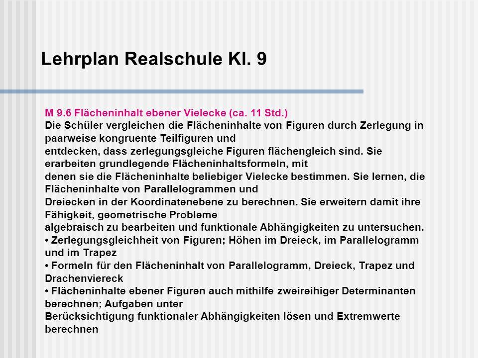 Lehrplan Realschule Kl. 9