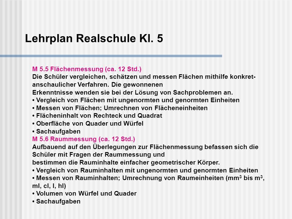 Lehrplan Realschule Kl. 5