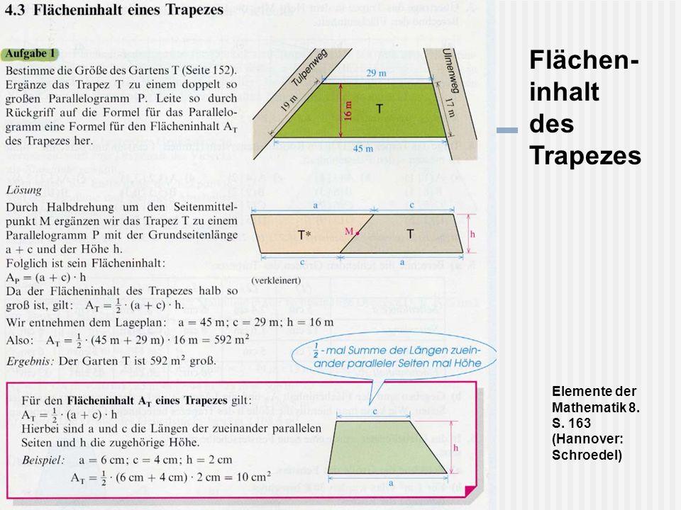 Flächen- inhalt des Trapezes