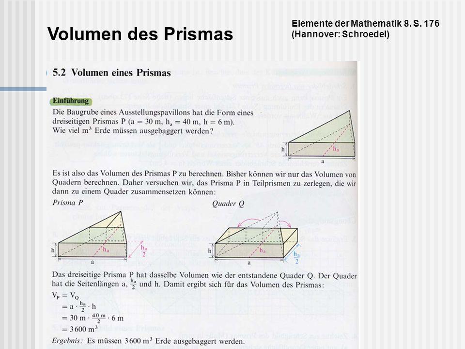 Elemente der Mathematik 8. S. 176 (Hannover: Schroedel)