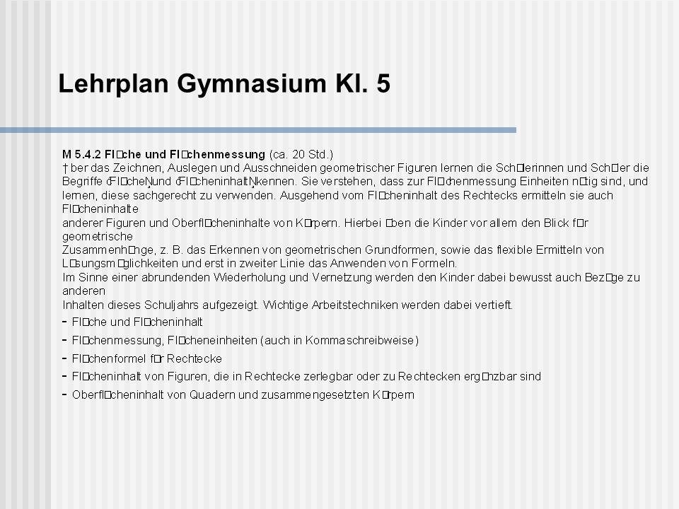 Lehrplan Gymnasium Kl. 5