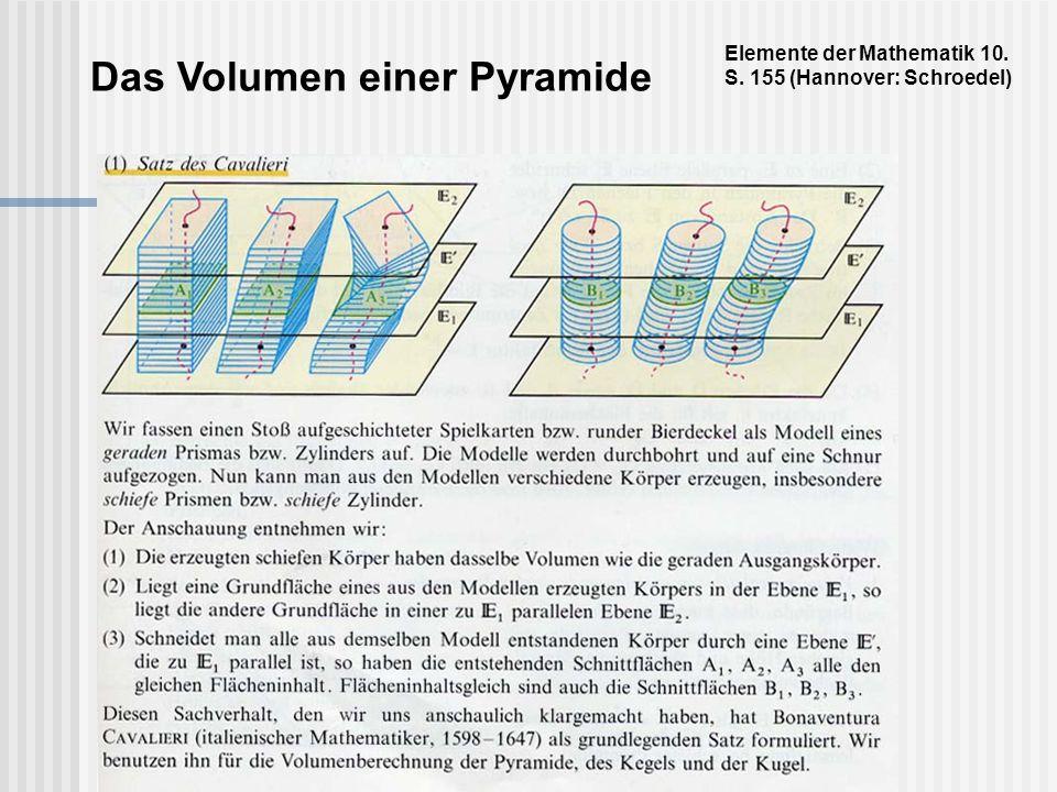 Das Volumen einer Pyramide