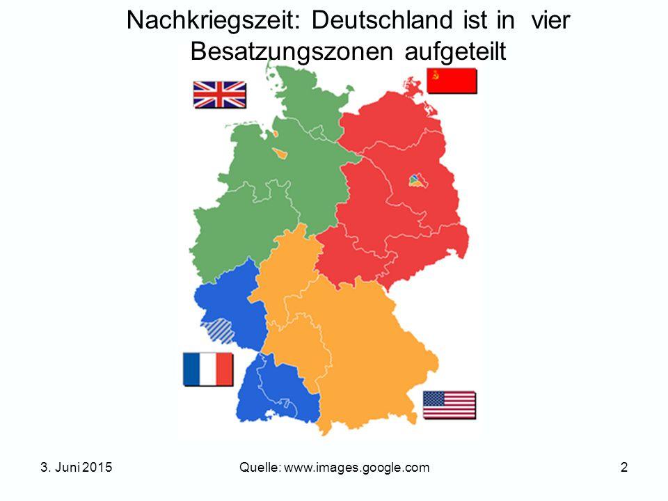 Nachkriegszeit: Deutschland ist in vier Besatzungszonen aufgeteilt