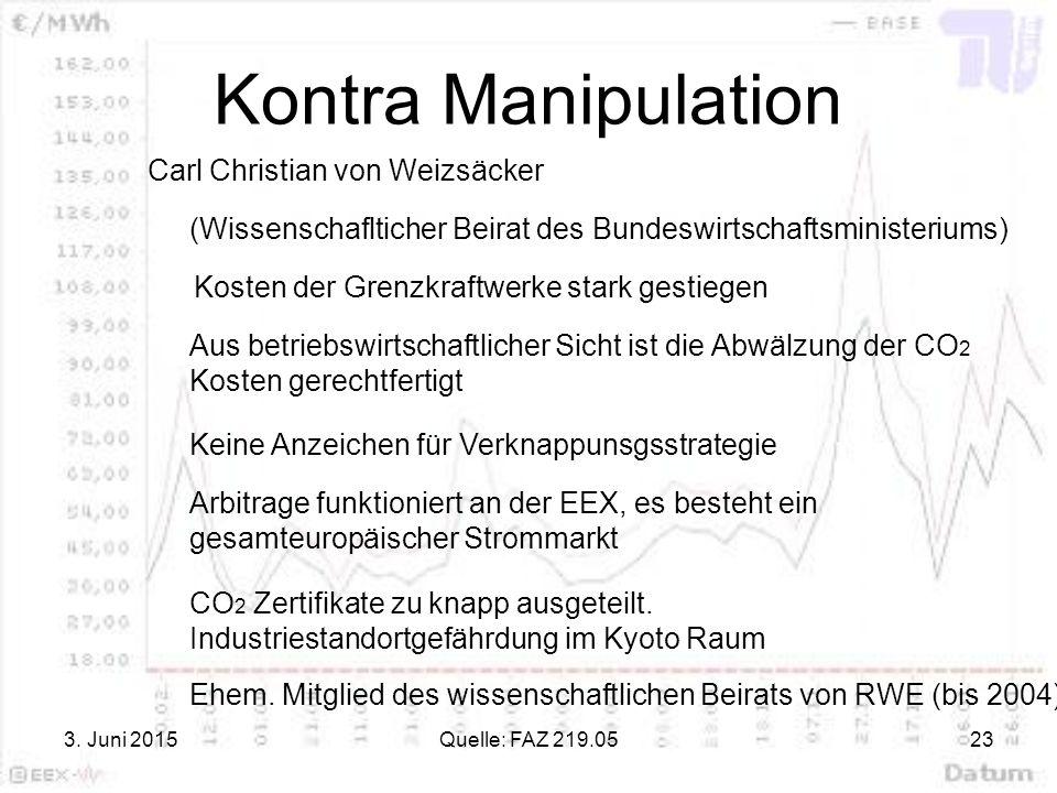 Kontra Manipulation Carl Christian von Weizsäcker