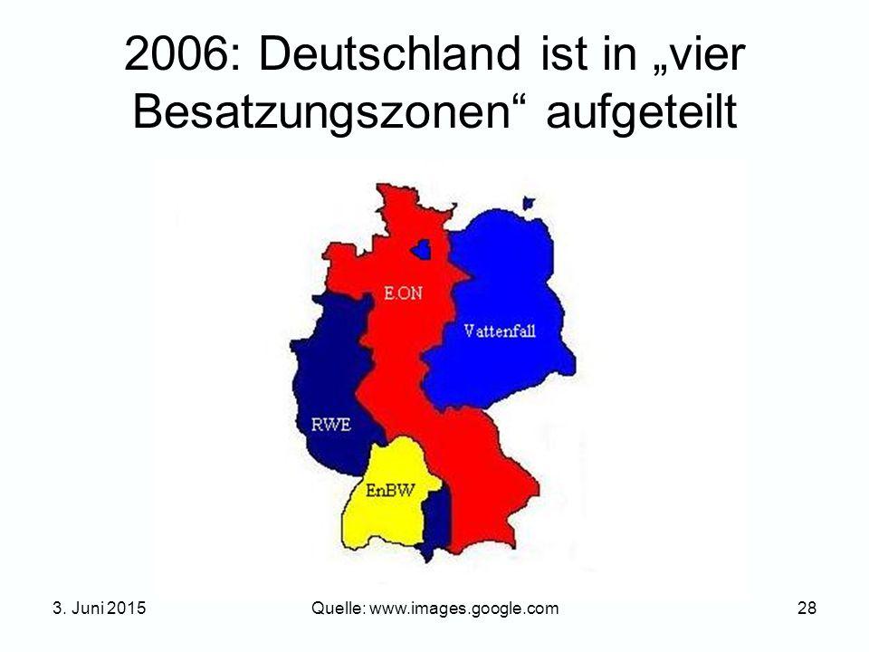 """2006: Deutschland ist in """"vier Besatzungszonen aufgeteilt"""
