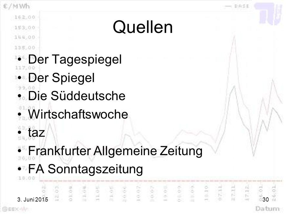 Quellen Der Tagespiegel Der Spiegel Die Süddeutsche Wirtschaftswoche