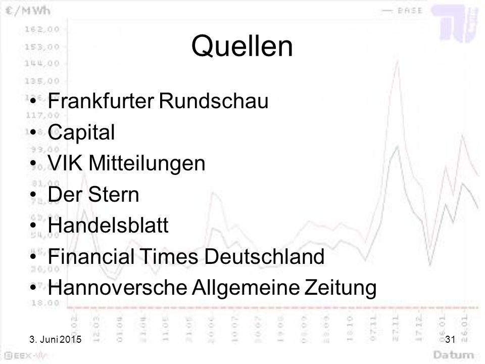 Quellen Frankfurter Rundschau Capital VIK Mitteilungen Der Stern
