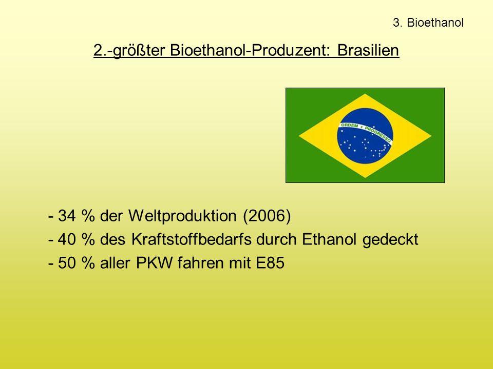 2.-größter Bioethanol-Produzent: Brasilien