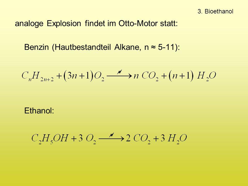analoge Explosion findet im Otto-Motor statt: