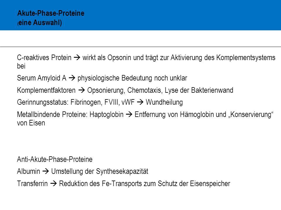 Akute-Phase-Proteine (eine Auswahl)