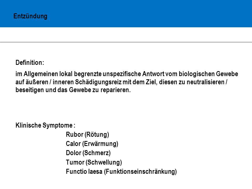 Entzündung Definition: