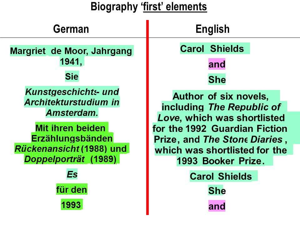 Biography 'first' elements