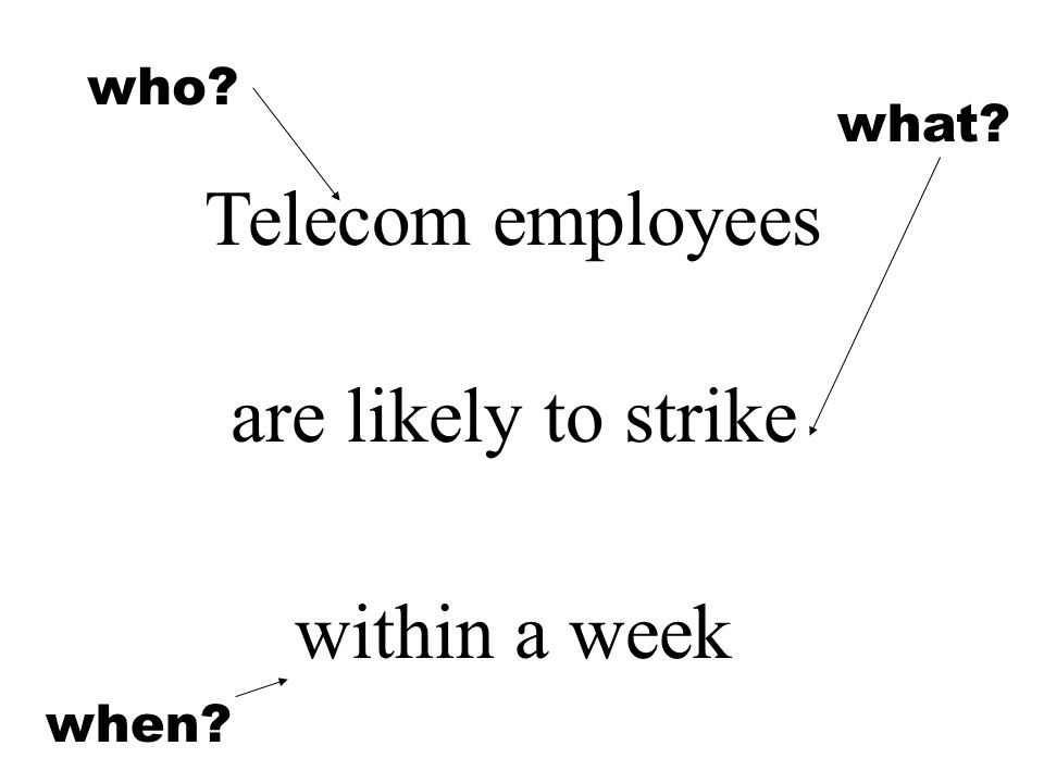 who Telecom employees are likely to strike within a week what when