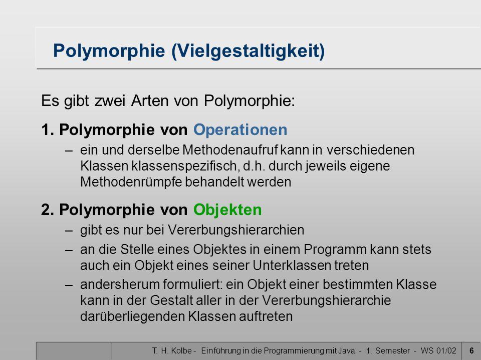 Polymorphie (Vielgestaltigkeit)