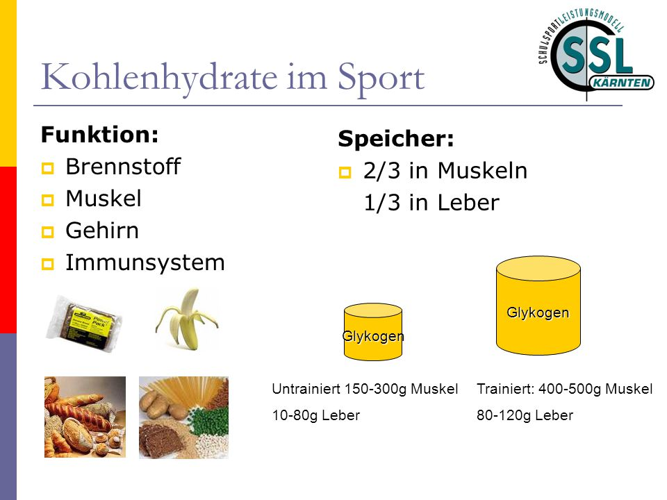 Kohlenhydrate im Sport