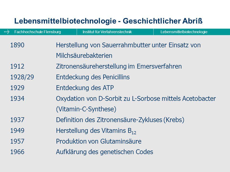 Lebensmittelbiotechnologie - Geschichtlicher Abriß
