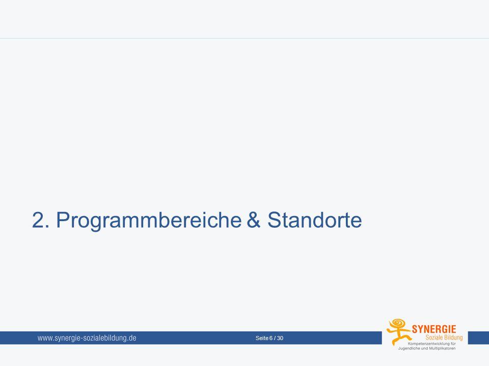2. Programmbereiche & Standorte