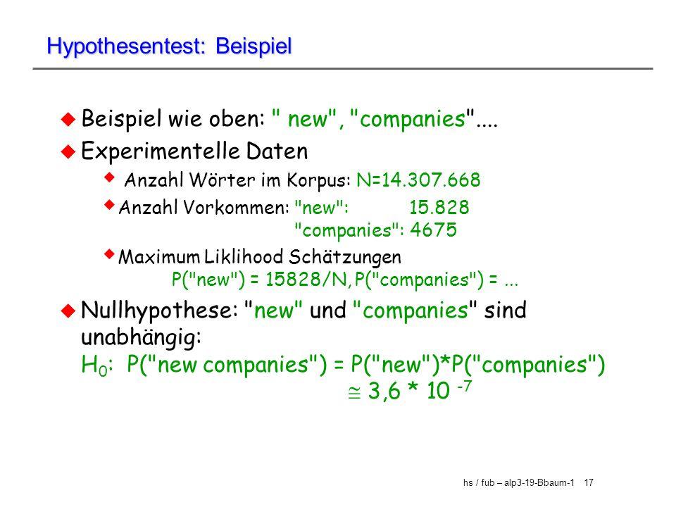 Hypothesentest: Beispiel