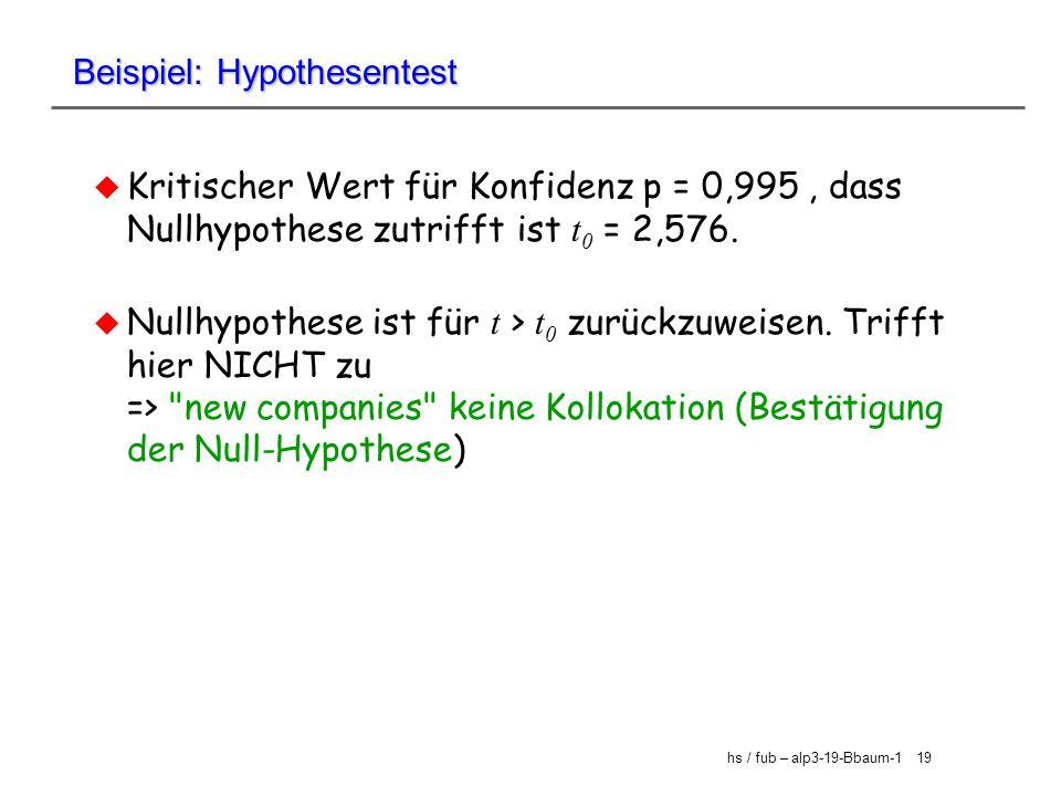 Beispiel: Hypothesentest