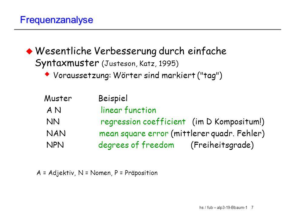 A = Adjektiv, N = Nomen, P = Präposition