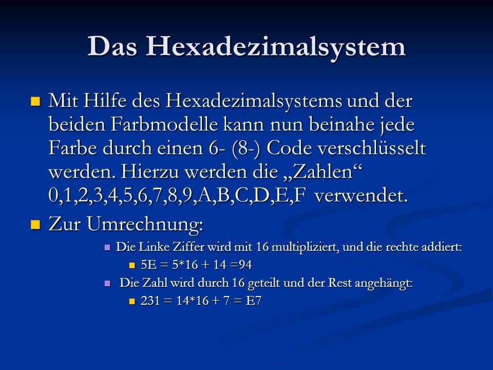 Das Hexadezimalsystem