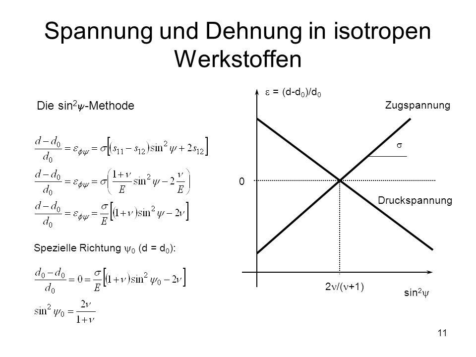Spannung und Dehnung in isotropen Werkstoffen
